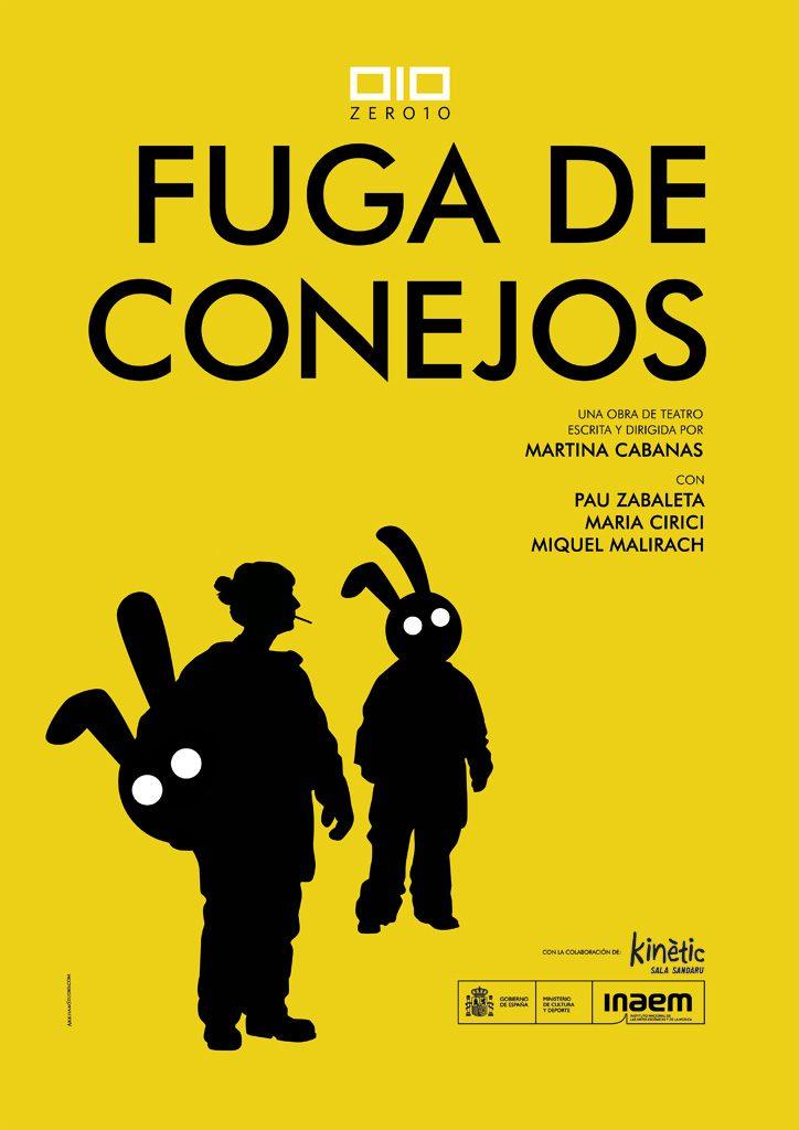Cartel del espectáculo teatral FUGA DE CONEJOS