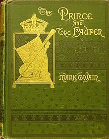 Portada de THE PRINE AND THE PAUPER de Mark Twain
