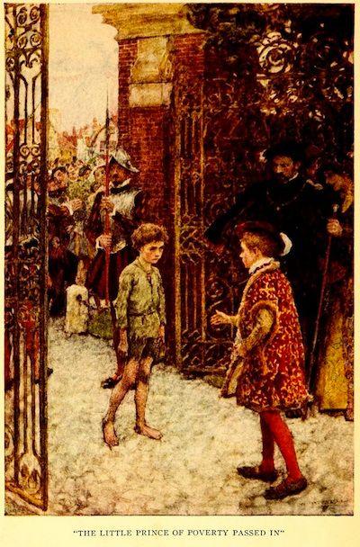Dibujo sobre la historia de EL Príncipe y el Mendigo de Mark Twain